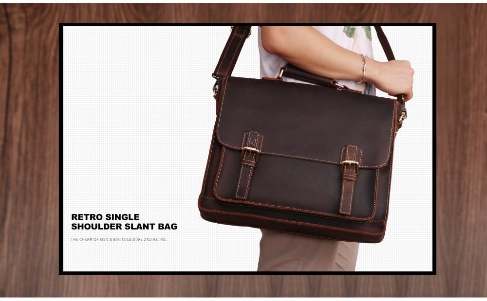 HTB1CkcnJA9WBuNjSspeq6yz5VXa8 JOYIR 2019 Vintage Men's Genuine Leather Briefcase Crazy Horse Genuine Leather Messenger Male Laptop Bag Men Business Travel Bag