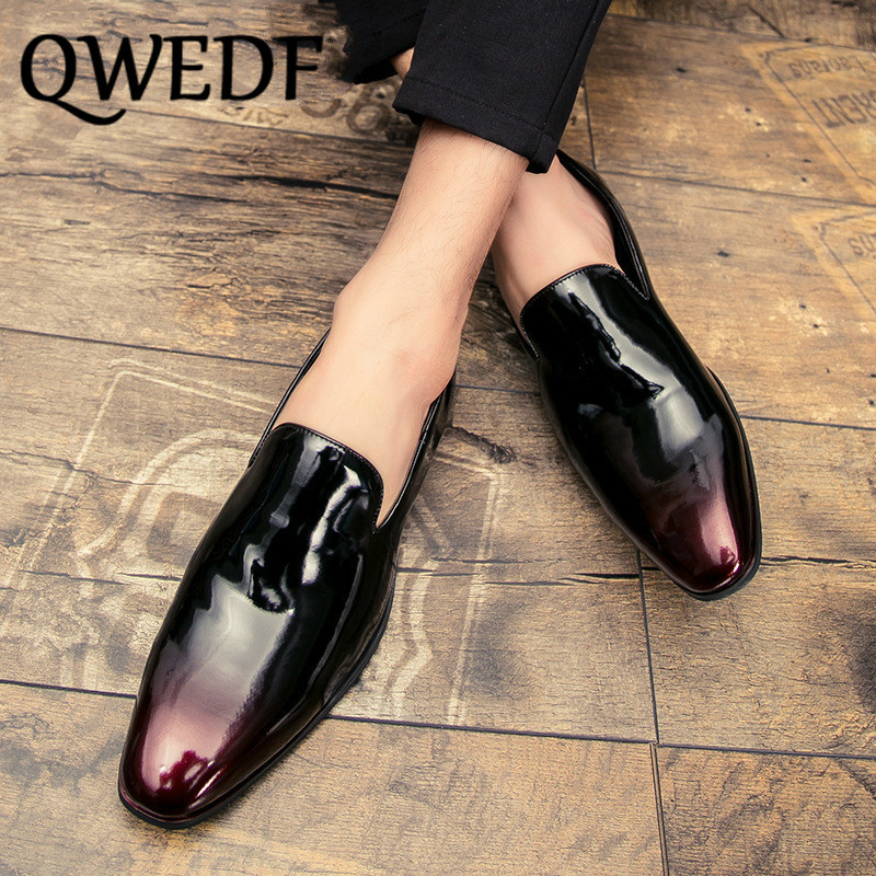 YOUTH SCHOOL BAND UNIFORM DRESS SHOES PATENT LEATHER GLOSS BLACK OXFORD 4,4.5,5W