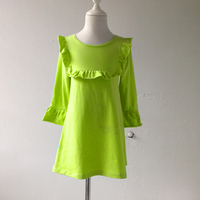 Hot Selling Pinup Vintage Woman Dresses Beautiful Ruffle Bib Candy Green Color Apparel Woman Clothes