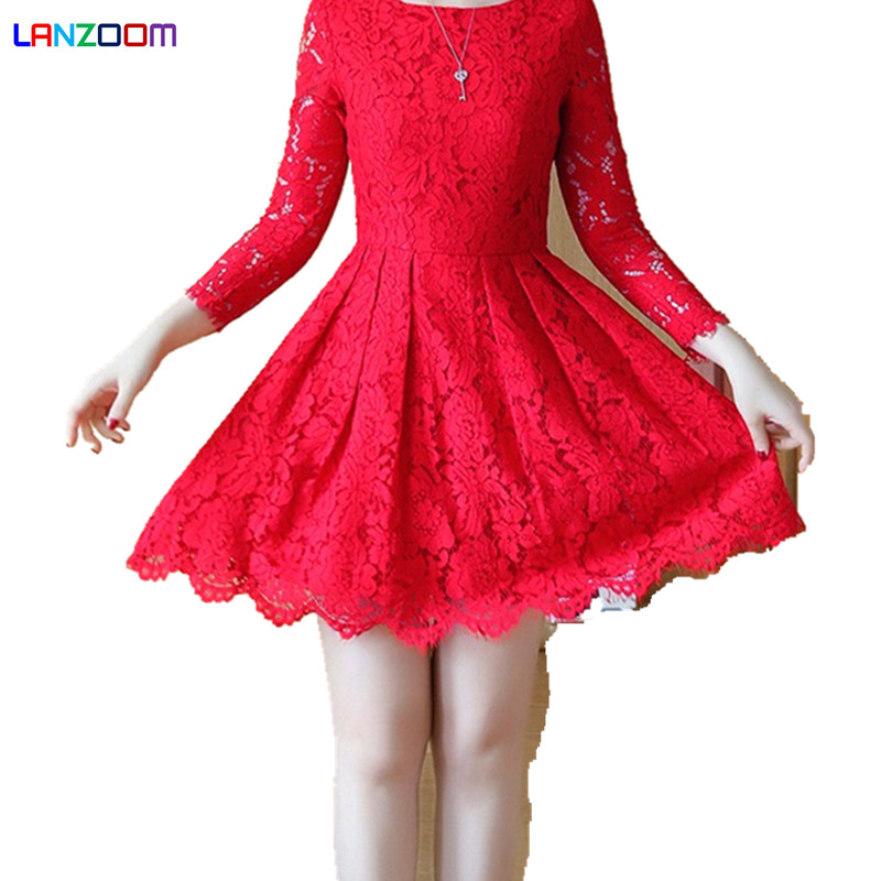 How To Pull Off The Most Glamorous Pink: Floral Most Beautiful Princess Lace Red Pink Black Dress