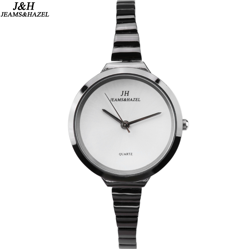 New Fashion High Quality slim Watches Women Luxury Brand Stainless Steel Bracelet thin ladies watch Quartz Dress reloj mujer JH 2016 new high quality women dress watch crrju luxury brand stainless steel watches fashion wrist gift watch men wristwatches