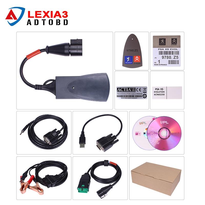Цена за DHL для Lexia 3 PP2000 Lexia3 V7.76 инструмент диагностики Lexia-3 Авто Code Reader Сканер Automotivo сканер automotriz Diagbox