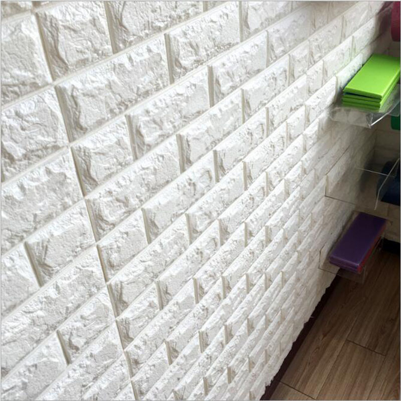 New PE Foam 3D DIY Stone Brick Self Adhesive Wall Stickers