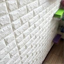 Новый вспененный 3d diy кирпич камень самоклеящиеся наклейки Home Decor 39*70 см Плакат Обои Для Гостиной Кухня Искусства фреска