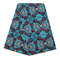 Super Wax Fabric Ankara Hollandais Wax High Quality For Dress 100% Cotton Printed African Wax Fabric 6 yards for Dress