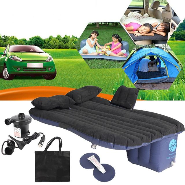 Universal Car Travel Inflatable Mattress Car Inflatable Bed Air Bed Cushion  Outdoor Travel Beds Sofa With