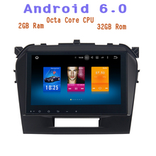 android 6.0 Octa Core Car radio gps for Suzuki Vitara 2015-2017 with 2g ram wifi 4g usb Stereo Auto Radio multimedia Stereo