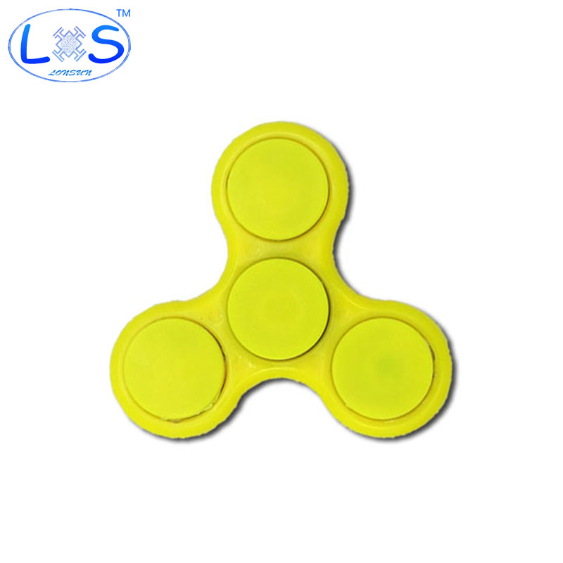 2017 NEW LED Flash Light Tri-Spinner Fidget Toy Plastic EDC Hand Spinner For Autism and ADHD Rotation Time Long Anti Stress Toy