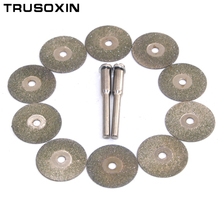 10pcs 20MM  MJGSB10 Diamond blades for Jewelry/thin metal/glass Dremel Tools With 2pcs Connecting rod