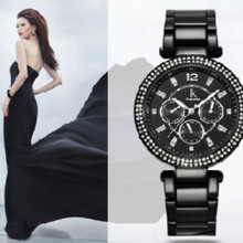 Quartz Wristwatch Stainless Steel Dress Watch Multifunction Dail with Day Week 24-Hour with Gift Box