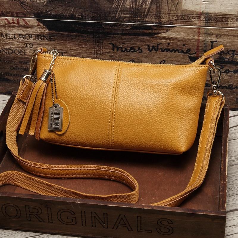 Bag Women Messenger-Bags Cowhide-Shoulder-Bag Design Hot-Sale Popular Genuine-Leather