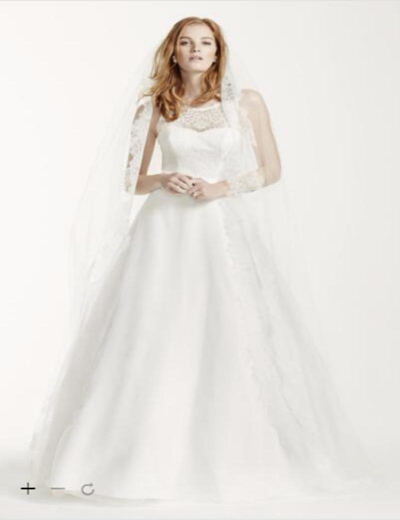 Custom Made 2016 New Free Shipping Illusion Lace Tank Wedding Dress David s  bridal Style 9MK3718 Wedding Dresses-in Wedding Dresses from Weddings    Events ... a82653ec9c3c