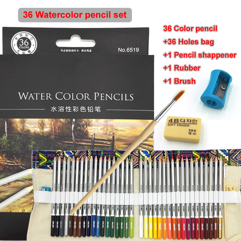 Non-toxic Import Lead Water Soluble Colored Pencil Watercolor Pencil Set Paint pencil For Drawing Art Kids Supplies цена 2017