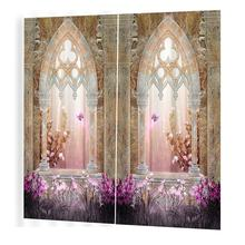 Architecture Prints Curtains Room 3d Curtain Window BJQ-1280(4)js 140*100cm Trendy Living Room Bedroom Blackout(China)