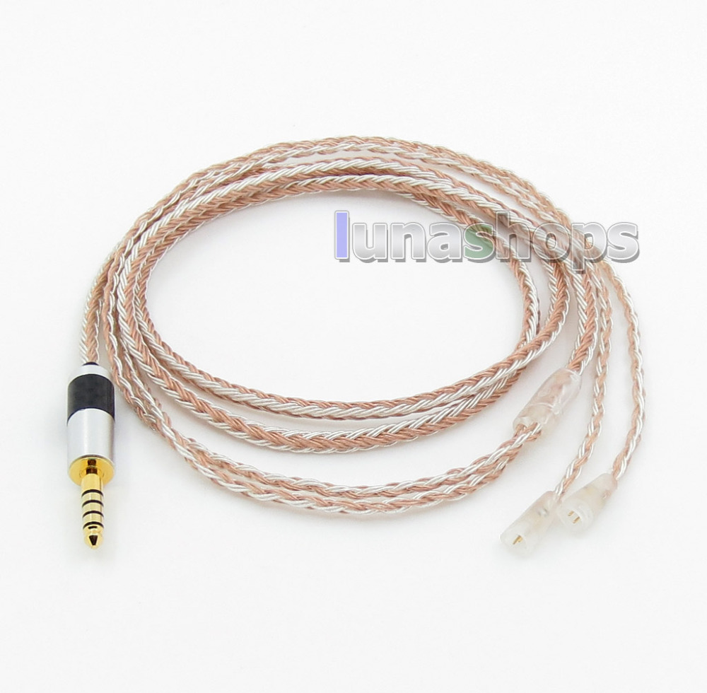 4.4mm Balanced 16 Cores OCC Silver Mixed Headphone Cable For Sennheiser IE8 IE80 IE8i LN005817 цена и фото