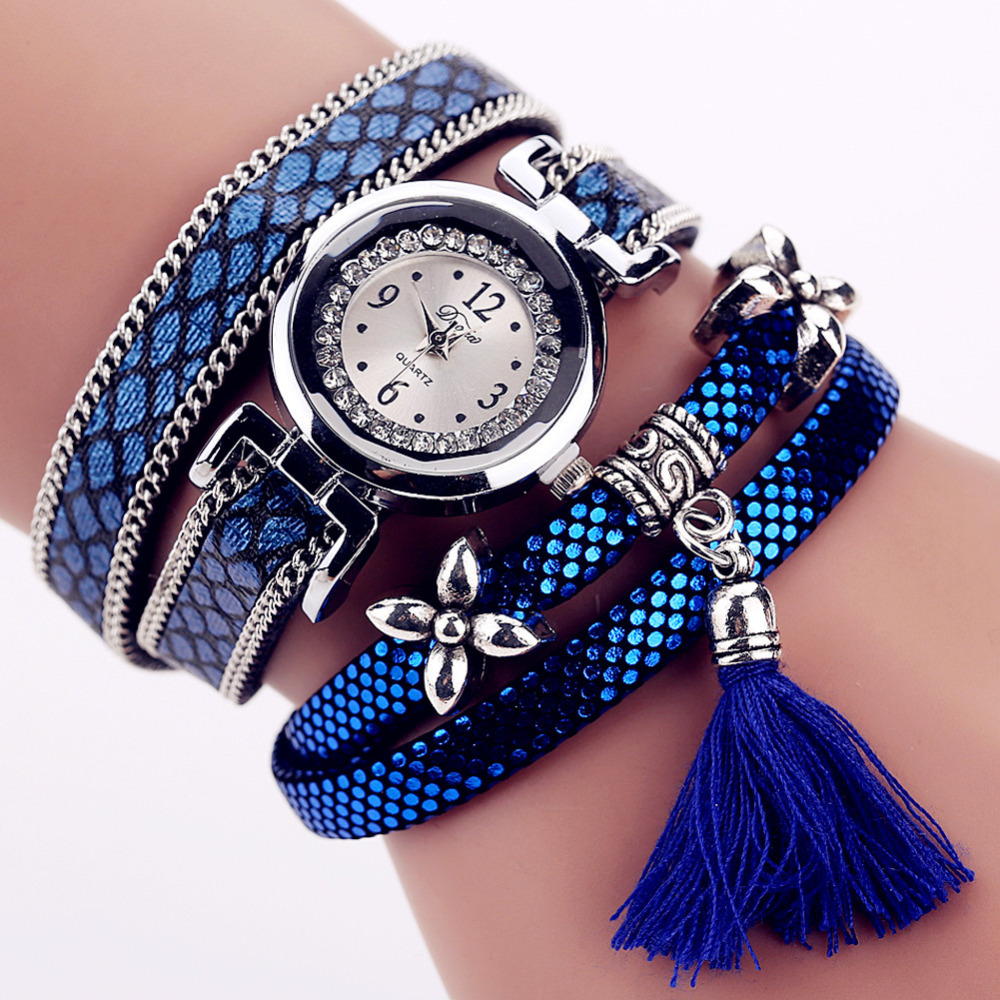 Charm Bracelet Watches: 2016 New Reloj Mujer Quartz Watch Women Dress Leather