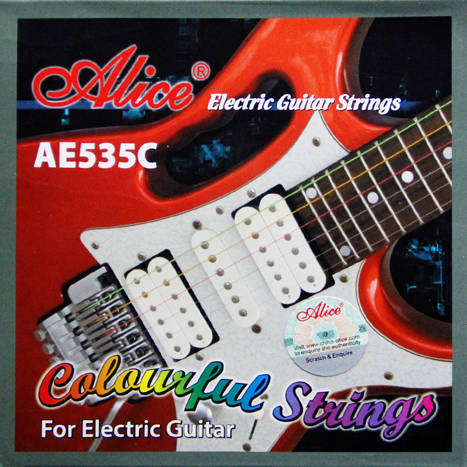NEW Alice Colorful Electric Guitar Strings AE535C/Coated Steel strings 0.09-0.42 inch аксессуар чехол asus zenfone go zb500kl zibelino ultra thin case white zutc asu zb500kl wht