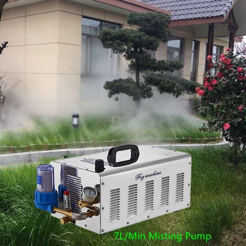 S101 Quality misting pump fog machine 7L/MIN mist spray set with 100M 9.52mm hose 100pcs mister for greenhouse humidificationS101 Quality misting pump fog machine 7L/MIN mist spray set with 100M 9.52mm hose 100pcs mister for greenhouse humidification