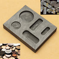 1OZ GOLD Graphite Ingot Bar Round Coin Combo Mold Casting Refining Scrap