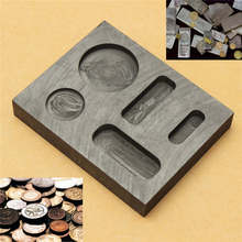 1OZ GOLD Crucible Graphite Ingot Bar Round Coin Combo Melting Metal Bar Molds Melting Ingot Casting Refining Scrap Tool Parts