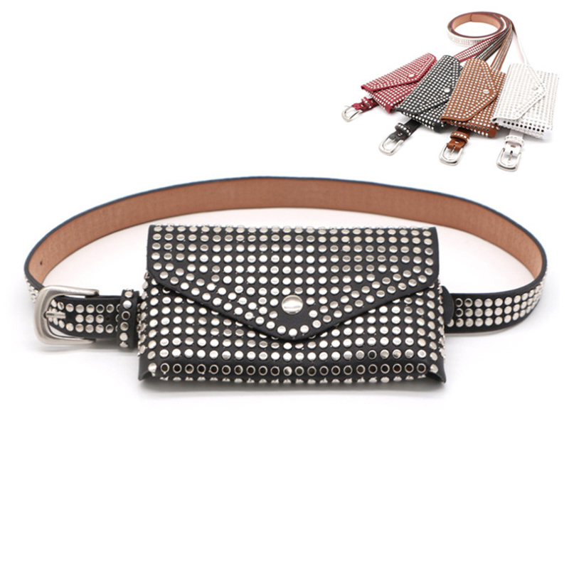 Women's Waist Bag Fashion Ladies Belt Bag Detachable Belt Rivet Waist Pack Female Handy Fanny Pack Girl Wholesale And Retail Hot
