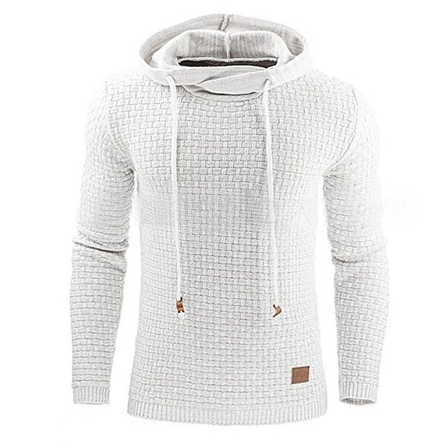 Casual Hoodie Men's Plaid Jacquard Sweatshirt 3