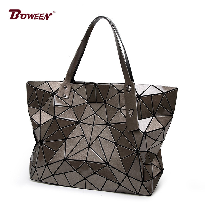 цены 2018 Fashion tote laser Bag Women hand Bags summer Geometric Handbag ladies Famous Brands Shoulder Bag big