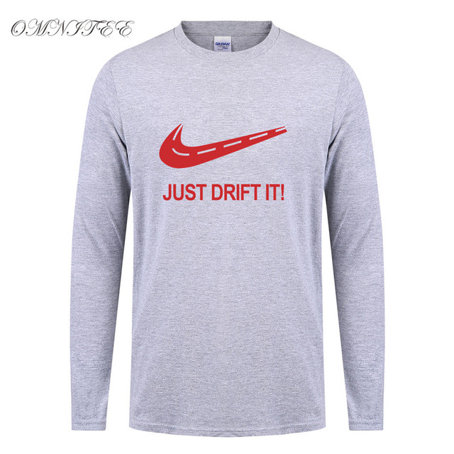 c270daa6 New Fashion Long Sleeve Just Drift It T Shirt Printed Car Tee Cotton O-neck  Full Sleeve Men Casual Drift T-shirt