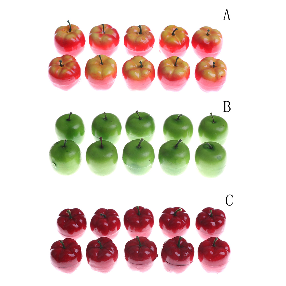 10Pcs/Set Plastic Artificial Fake Fruit Apple Chili Vegetables House Kitchen Decor Miniturate Play Dollhouse Toy For Girls Gift