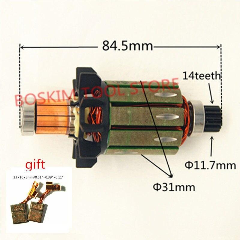 Rotor Motor Armature 619301-1 DC18V For MAKITA DDF458Z DF458D DDF458RFE DHP458 BHP458 DDF458 BDF458 BDF458RFE BDF458Z Drill