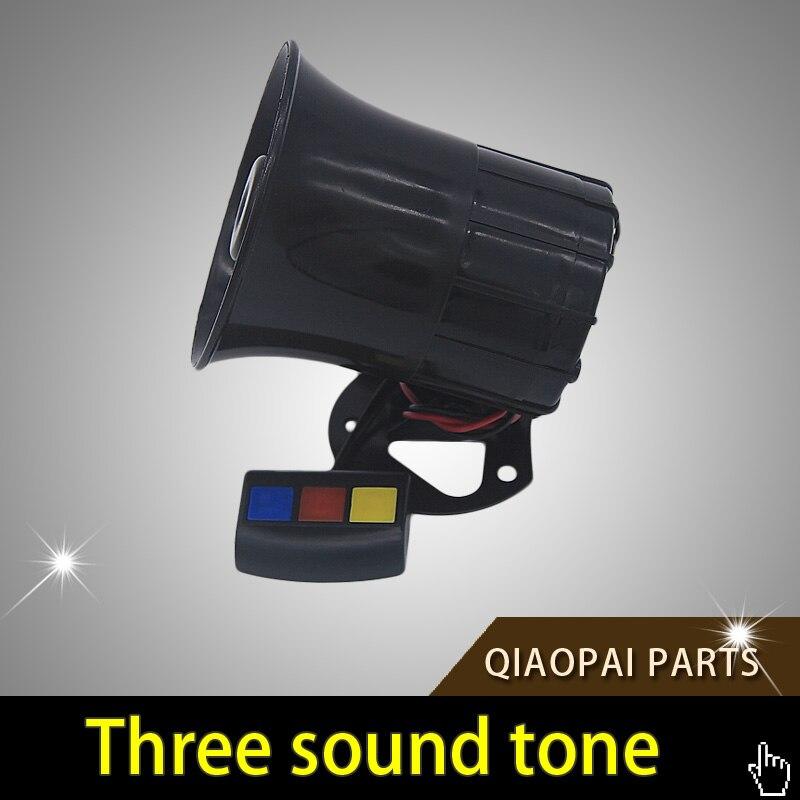 Motorcycle Car Alarm Siren 3 Tone Horn Sound Loud Universal 12V 30W Band High Power Loudspeaker Alarm Horn Firemen Ambulance