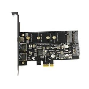 Image 2 - Двойной USB3.0 1 порт Type c M.2 PCIe адаптер M2 SSD SATA B Ключ к PCI e 3,0 Контроллер конвертер карта для NGFF 2280 2260 2242 2230