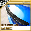 Carro-styling Para BMW F22 EXOT Estilo Fibra De Carbono Spoiler Traseiro
