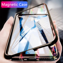 Magnetic Adsorption Luxury Protective Case On The For IPhone 6 6s 7 8 Plus Shockproof Cover For IPhone X XS XR Hard Back Case(China)
