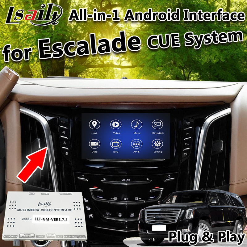 Us 467 5 15 Off All In 1 Plug Play Android 6 0 7 1 8 0 Gps Navigation Box For 2014 2018 Cadillac Escalade With Google Play Carplay Google Map In