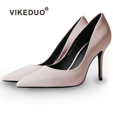 Vikeduo 2019 Summer New Fashion Women Shoes Ladies Pink High Heels Pumps Pointed Toe Wedding Party Business Zapatos Mujer Sapato
