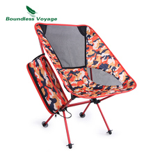 Boundless Voyage Outdoor Folding Chair Fishing Chair with Carry Bag Heavy Duty Camping Beach Moon Chair for Drawing Picnic BBQ ultralight folding chair rocking aluminum alloy moon chair backrest carry bag lightweight for outdoor camping picnic fishing