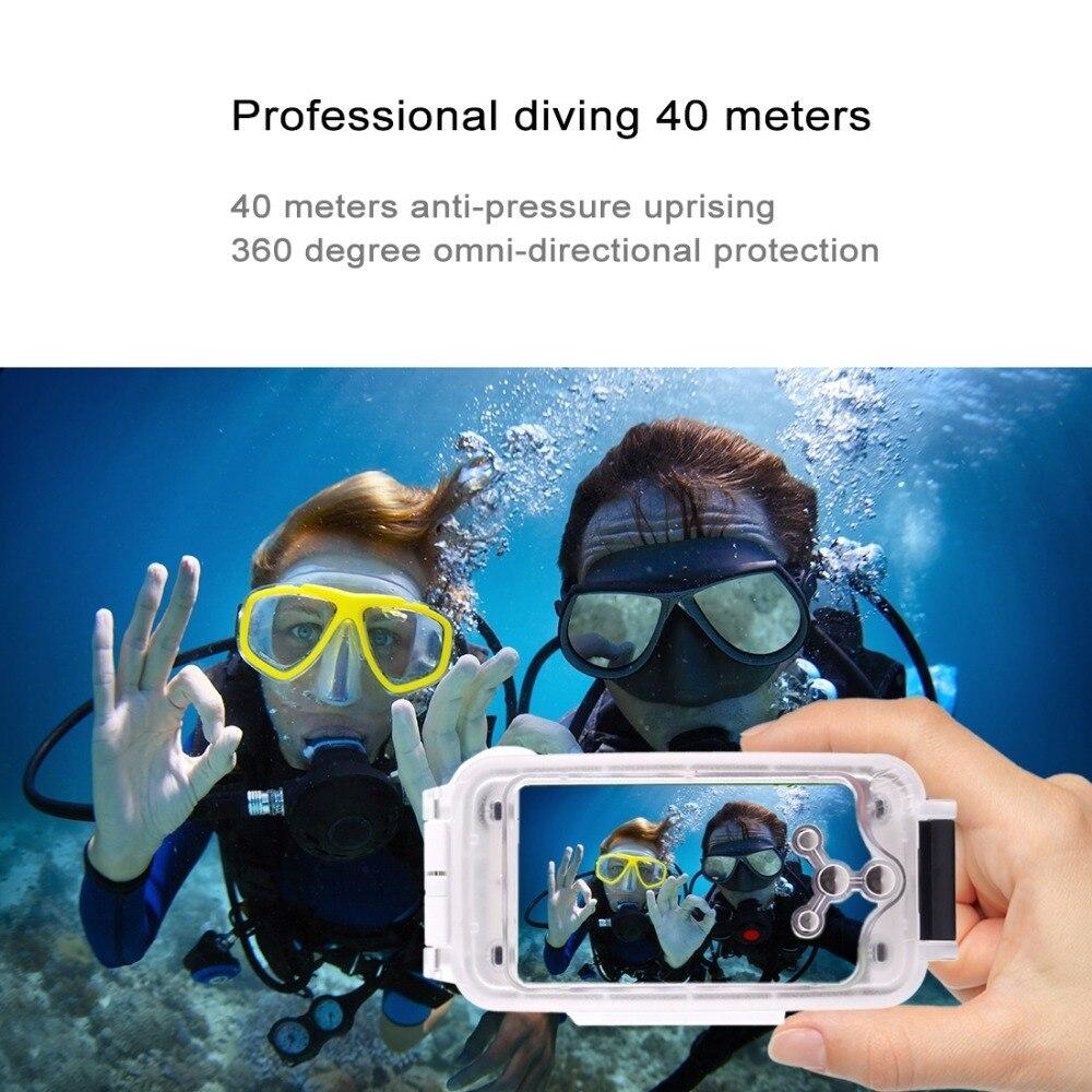 Voor iPhone 6 6 s 7 7 Plus 6 Plus Waterdichte Duiken Behuizing Cover Case PC ABS Zak Dirt/ shock Proof Foto Video Nemen Onderwater - 6