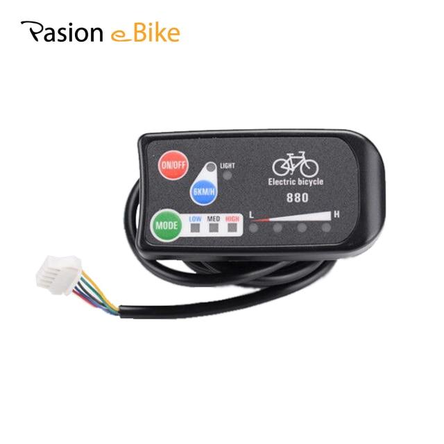 PASION E велосипед В 36 В в 48 в дисплей для электрического велосипеда умный светодио дный 880 панель управления дисплей Электрический велосипед запчасти E велосипед панель
