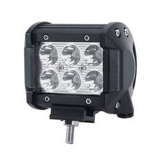 цена на 2pcs Super Bright 4 inch 18W 6LED Work Light Bar Off-road Car Work Lamp Tractor Truck SUV ATV Flood 10-30V DC 6000-6500K