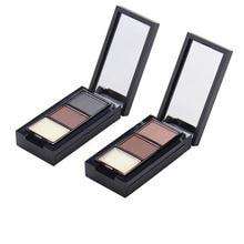3 Colors Eyebrow Enhancer  Eyes Makeup Palette Long-lasting Professional Eye Brow Powder Eyebrow Wax Color Palette Eyebrow Dye