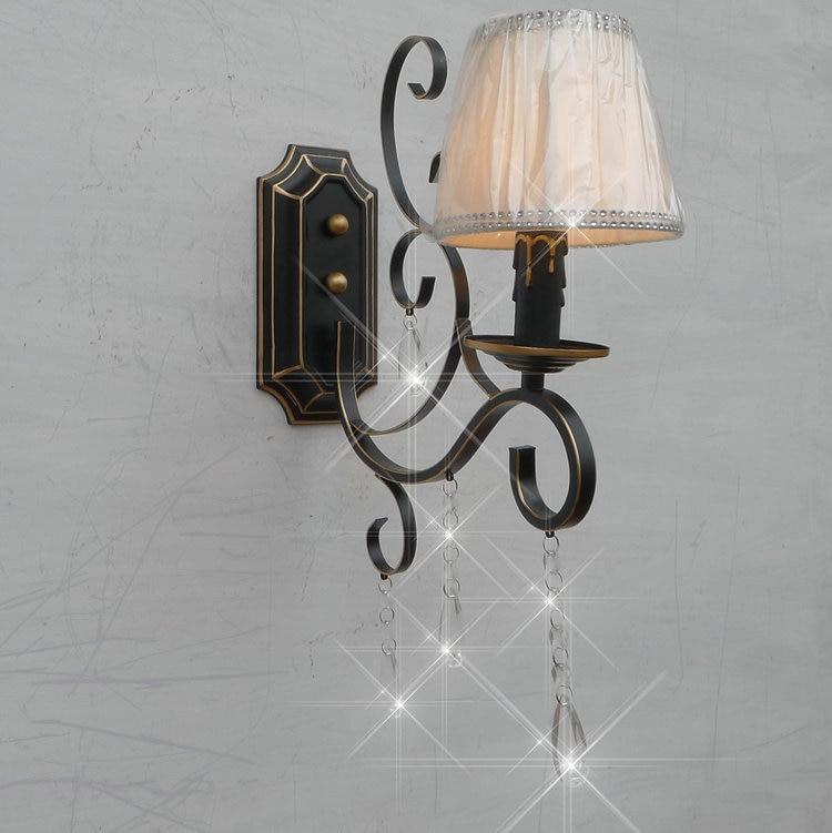 A1 European crystal lighting lamp lens headlight Room Restaurant minimalist retro pastoral wrought iron lamps B1-086 european crystal living room lamp pendant light restaurant bedroom lamps simple retro pastoral lighting za zx158