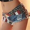 Шорты женщин новый сексуальный печати США Национальный флаг Mopo Flash Модные Горячих короткие feminino джинсовые шорты джинсы короткие джинсы