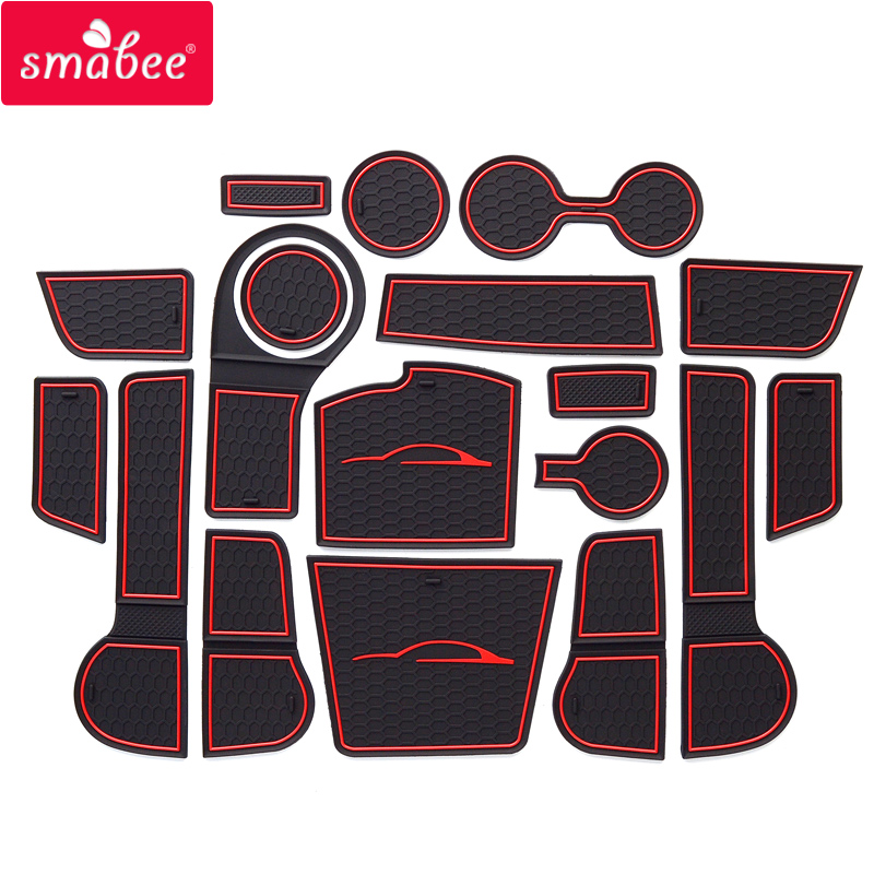 for Kia Rio 4 X-Line RIO 2017 2018 2019 Anti-Slip Rubber Cup Cushion Door Groove Mat 18pcs Accessories Car Styling Stickers for honda stepwgn 2015 2018 non slip mats rubber cup cushion door groove mat 2016 2017 accessories car styling car stickers