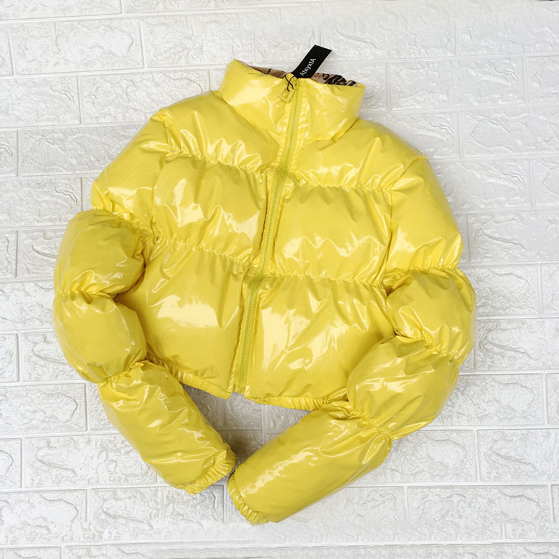 Image 4 - Bubble Puffer Jacket 2019 Winter Coat Women Lime Green Pink Yellow Red Black-in Parkas from Women's Clothing