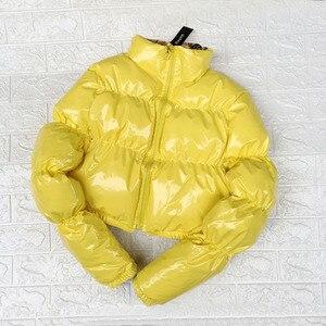 Image 2 - Bubble puffer jacket 2019 casaco de inverno feminino verde limão rosa amarelo vermelho preto