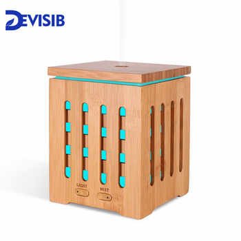 DEVISIB Real Bamboo Essential Oil Diffuser Ultrasonic Aromatherapy Diffusers with 7 LED Colorful Lights and Waterless Auto Shut - DISCOUNT ITEM  50% OFF All Category