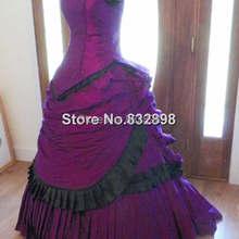 Викторианский стимпанк готический Марди Гра Венеция Свадебное бальное платье женское платье с бантом репродукция бальное платье
