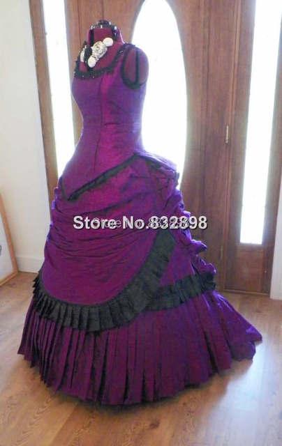 Victorian Steampunk Gothic Mardi Gras Venice Wedding Ball Gown Bustle Dress Reproduction