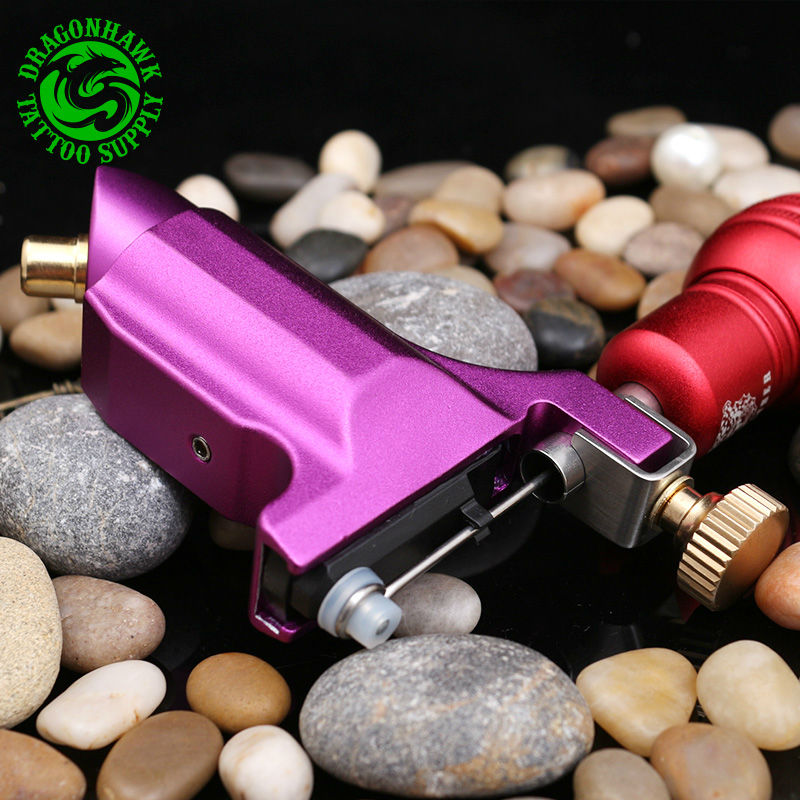 New Rose Red Color Rotary Tattoo Machine Gun For Shader&Liner DHL&EMS Free Shipping 1set pro new arrival 4 colors for choosing tattoo dragonfly style rotary machine for shader and liner gun free shipping